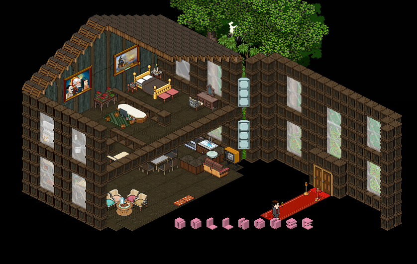 Recibidor habbo club for Casa moderna haddoz